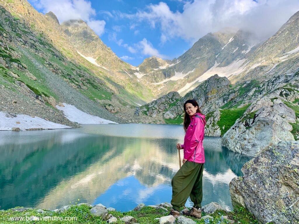 印度 India 北北印  North India 喀什米爾 Kashmir 大湖健行 trekking Kashmir Great Lakes Trek 與多變的聖湖湖畔
