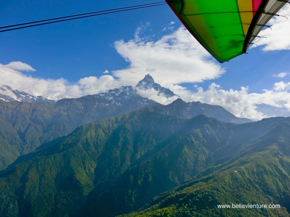 尼泊爾 波卡拉 滑翔翼 Auto plane  Fishtail  魚尾峰
