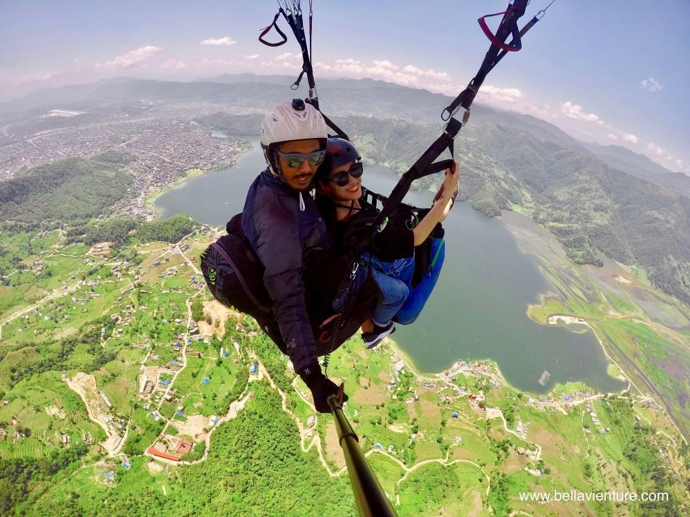 尼泊爾 nepal   波卡拉 pokhara 飛行傘 paragliding