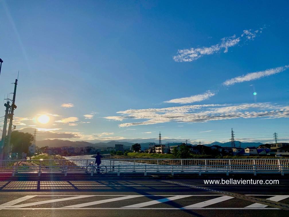 八王子市區 淺川 夕陽