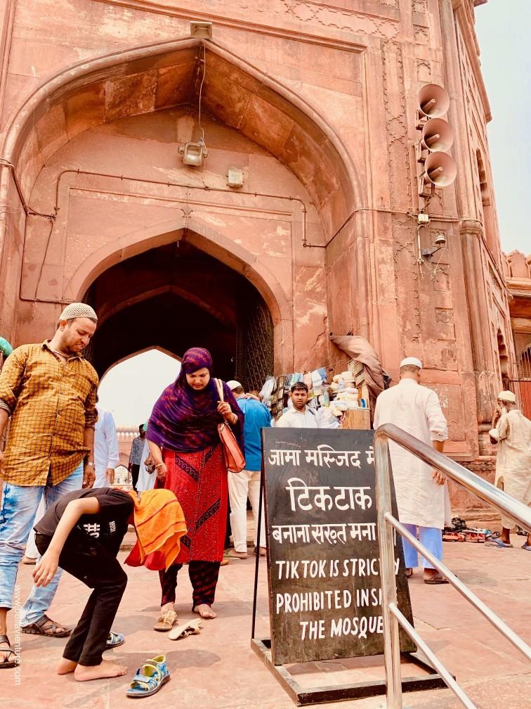 印度 India 新德里 New Delhi 德里 Delhi 清真寺 Jama Masjid