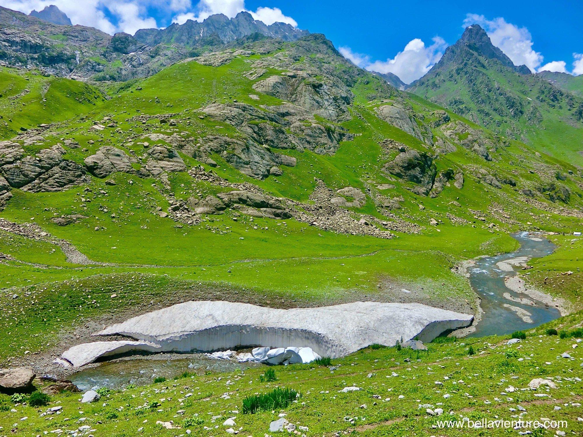 印度India 北北印 North India 喀什米爾 Kashmir 大湖健行 trekking 冰河