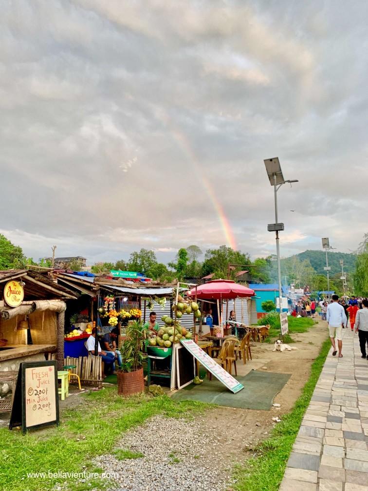 尼泊爾 波卡拉 Nepal Pokhara  Phewa lake 彩虹