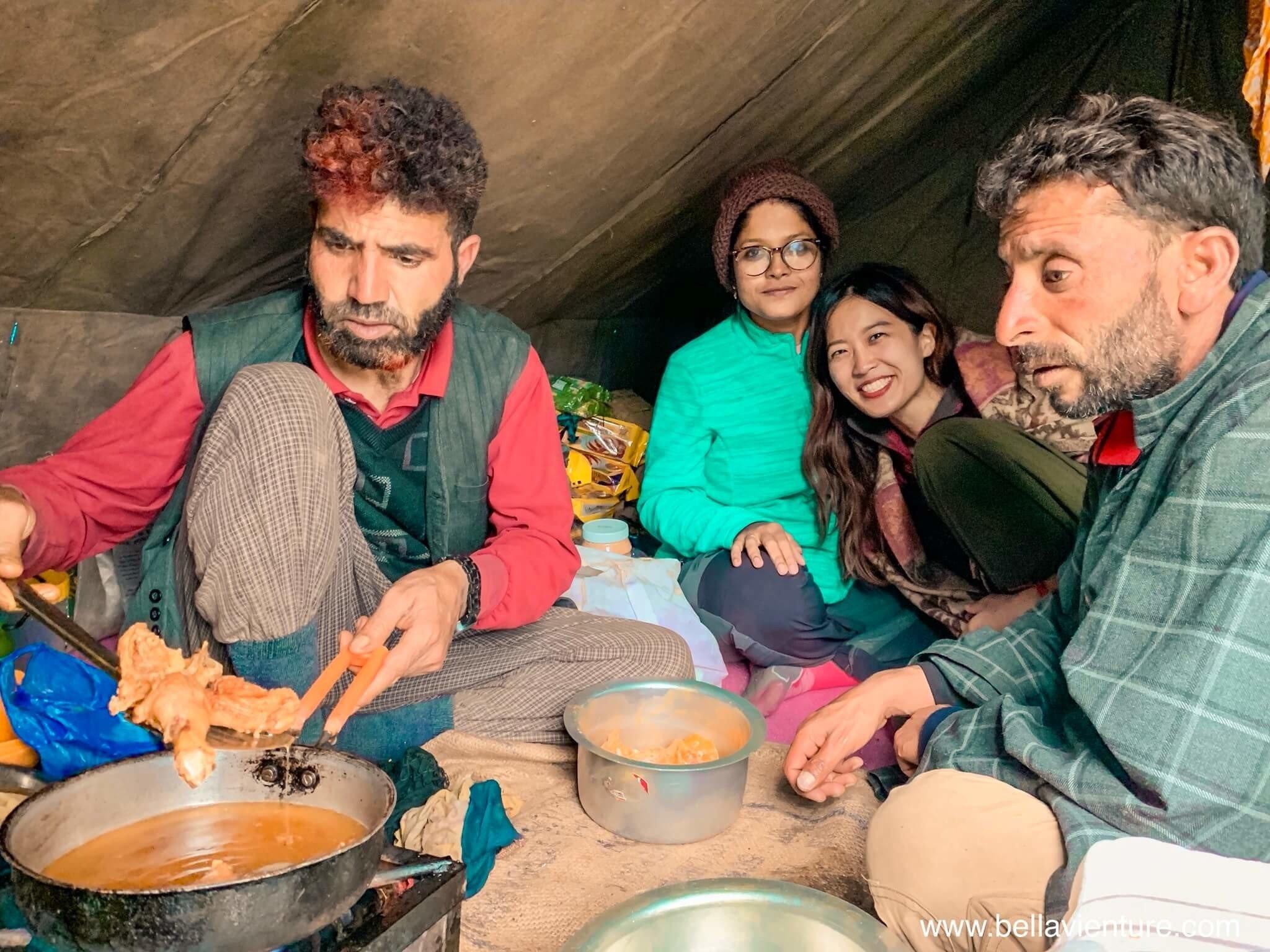 印度 India  喀什米爾 Kashmir  北北印 North India 八天七夜健行 廚師 下午茶