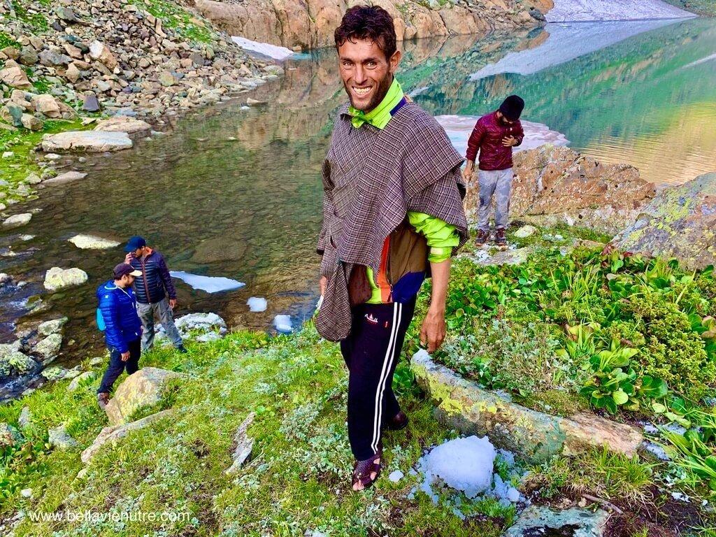 印度 India 北北印  North India 喀什米爾 Kashmir 大湖健行 trekking Kashmir Great Lakes Trek 童真的導遊