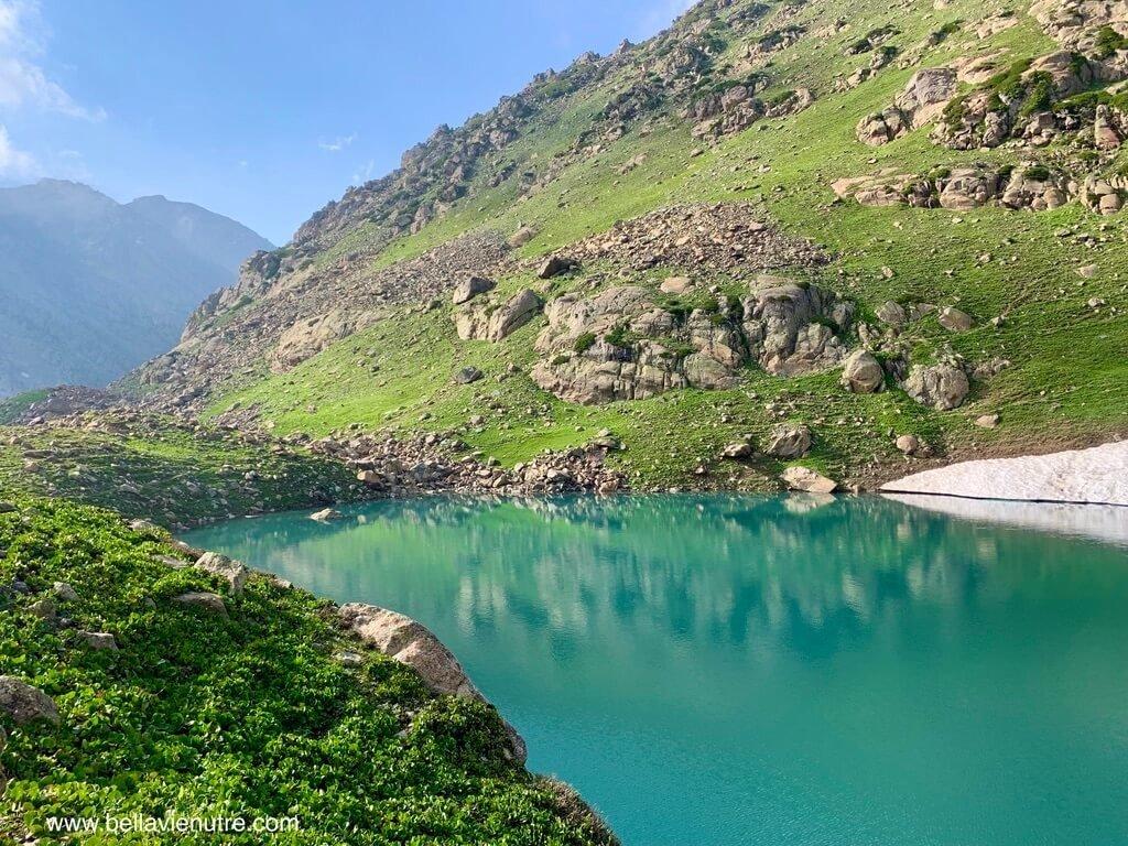 印度 India 北北印  North India 喀什米爾 Kashmir 大湖健行 trekking Kashmir Great Lakes Trek 碧綠的聖湖