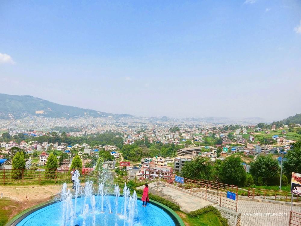 尼泊爾 加德滿都 Chandragiri Cable Car 噴水池