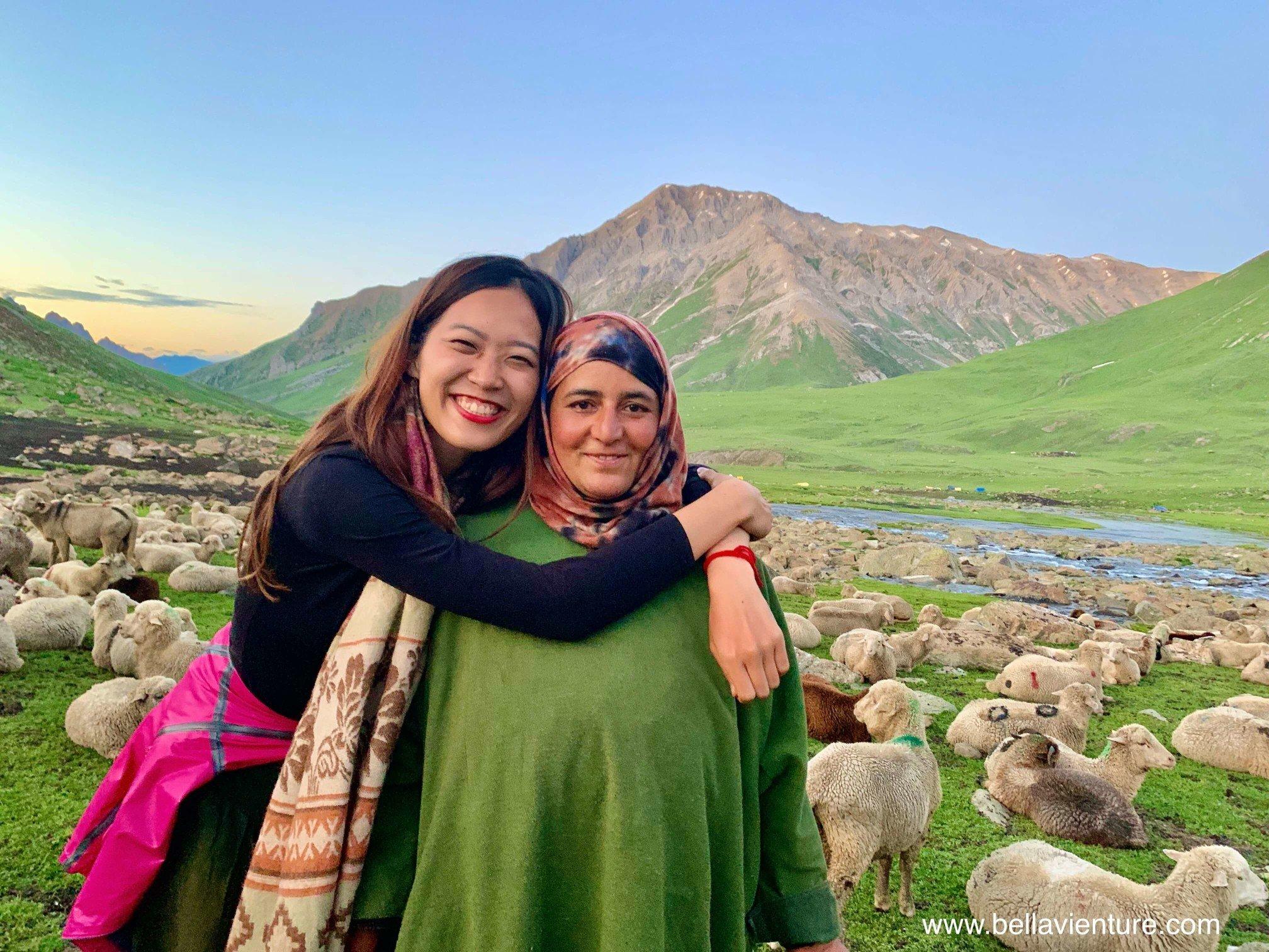 印度 India 北北印 North India 喀什米爾  Kashmir 八天七夜 健行 Nichnai Valley 被我擁抱的牧羊女