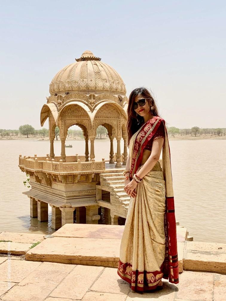 印度 india 賈莎梅爾Jaisalmer 金色城市golden city 加迪薩爾湖 Gadisar tank