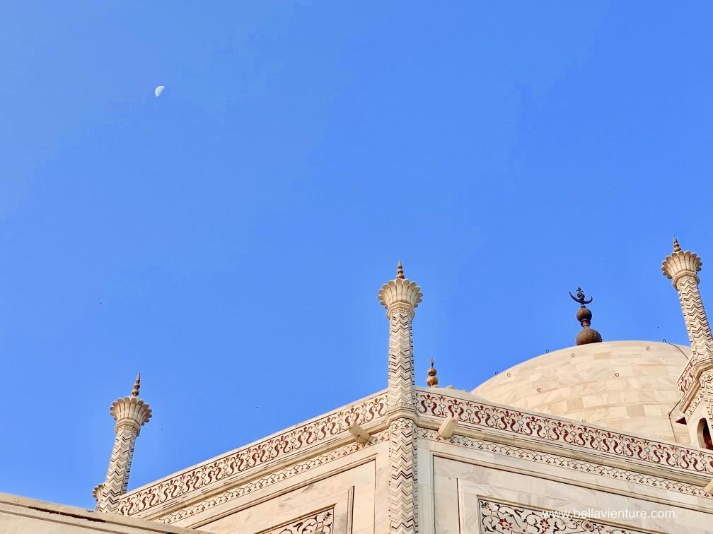 印度india  阿格拉 Agra 泰姬瑪哈陵 Taj Mahal sunrise moon 日出 月亮